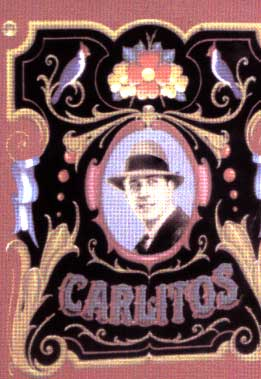 Filete Carlos Gardel- Traditional Argentinian painting- Artist Martinez